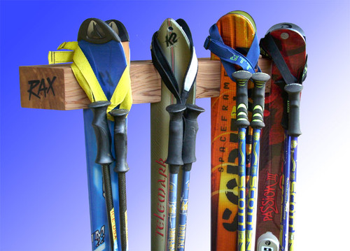 four ski display and storage rack | rax