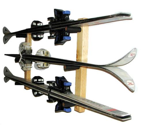 ski storage 3 skis horizontal
