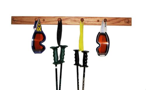 ski pole and gear rack
