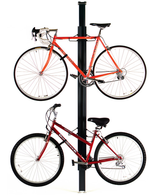 floor to ceiling road and mountain bike rack