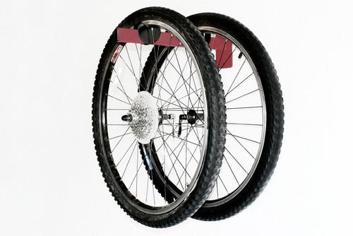 bike wheel storage | wall mount