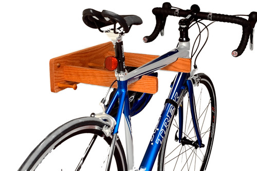 oak wall single bike rack