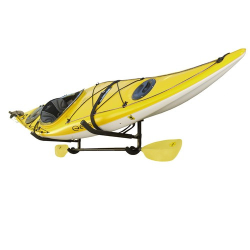 kayak and paddle wall rack