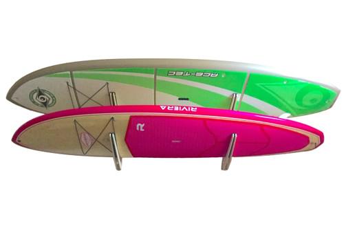 longboard surfboard home wood display