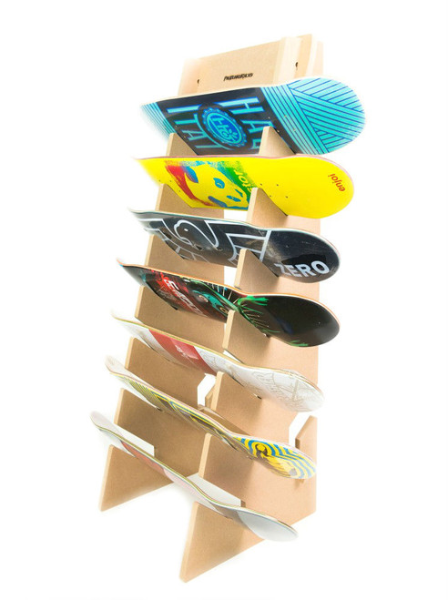 skateboard floor display rack
