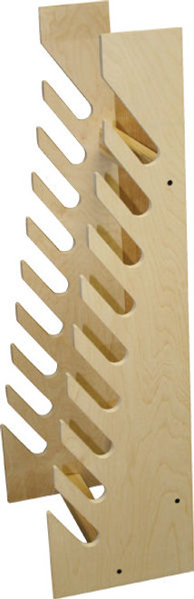 standing wood board rack for skateboards