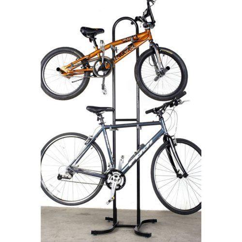 Freestanding double bike rack