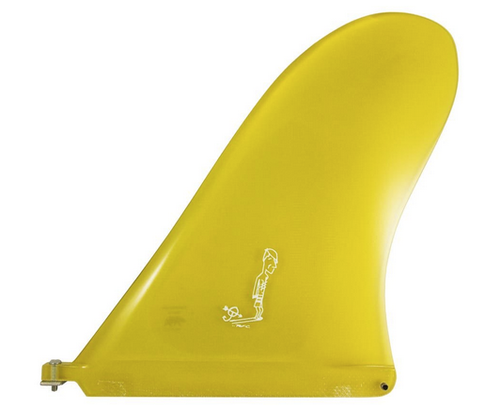 Rainbow Fin Company Justin Quintal Noserider longboard surfboard fin in yellow