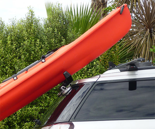 Lift assist for kayaks so one person can put a kayak on a roof rack