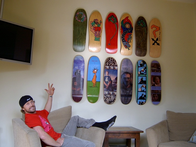wall display skateboard rack