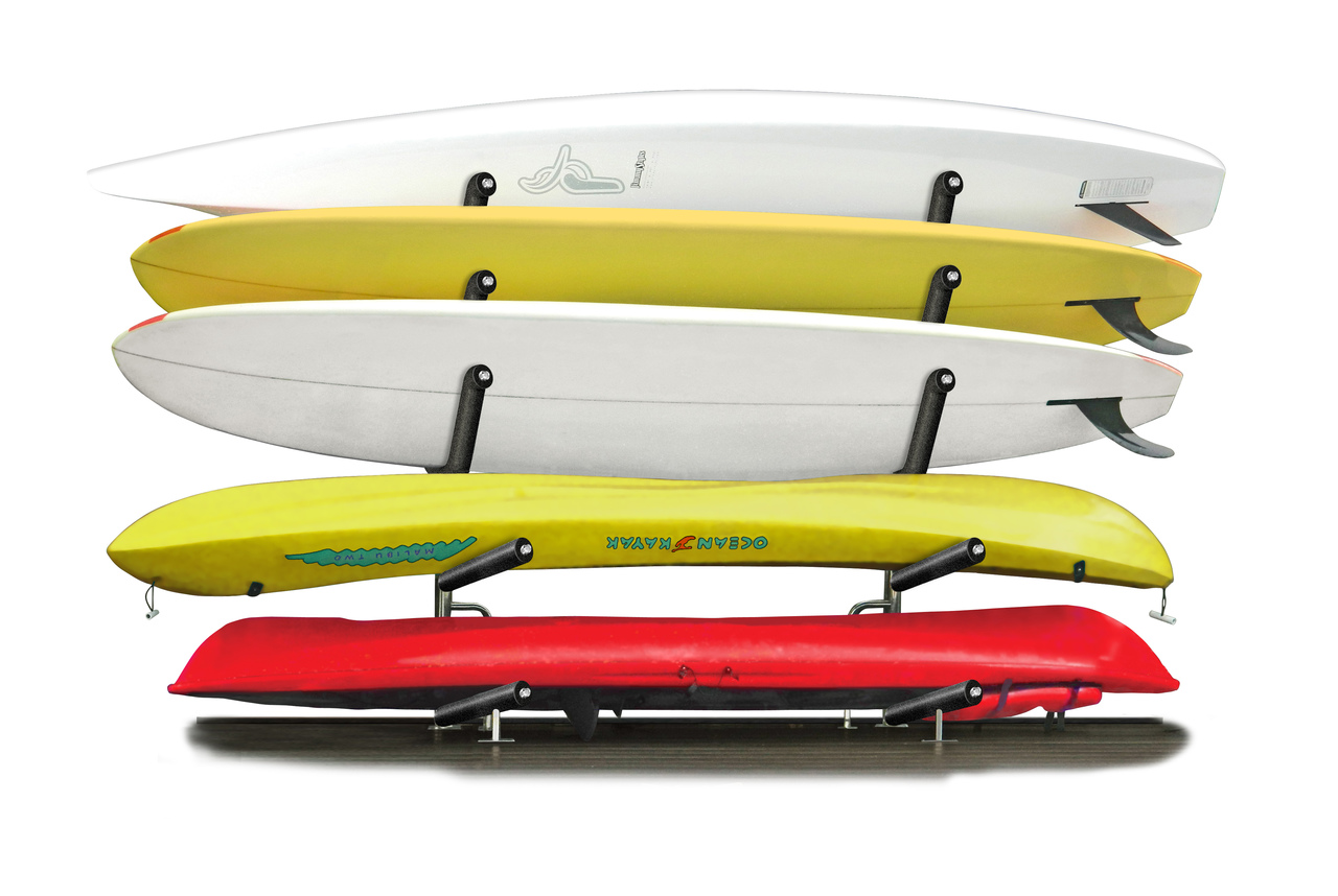 Kayak On Roof >> Stainless Steel SUP and Kayak Rack | Customizable Outdoor ...