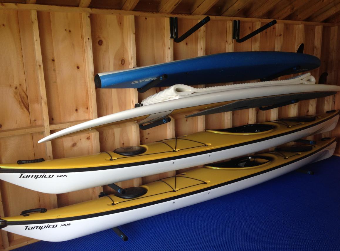 Sup And Kayak Wall Storage Rack Adjustable Steel Arms