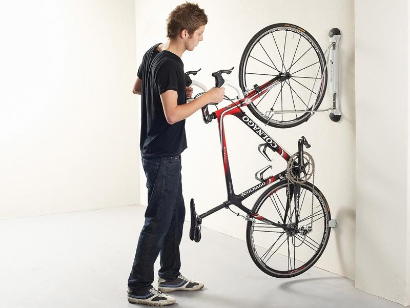 compact vertical bike rack | wall mount - Compact Vertical Bike Rack Wall Mount - StoreYourBoard.com
