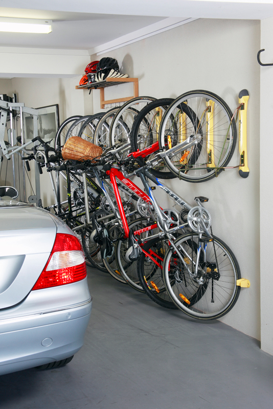 garage bike racks - Compact Vertical Bike Rack Wall Mount - StoreYourBoard.com