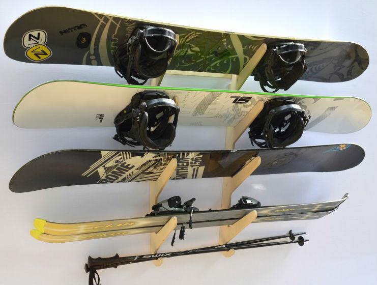 Premium Ski And Snowboard Wall Rack Storeyourboard Com