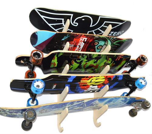 Surf Rack For Car >> Skateboard and Longboard Wall Rack | Baltic Wood - StoreYourBoard.com