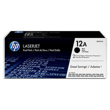 HP 12A (Q2612D) Dual Pack Black LaserJet Toner Cartridges