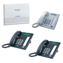 Advanced Hybrid Telephone System Package with KX-TA824 Control Unit and 3 KX-T7731 Phones