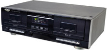 Pyle PT659DU Dual Stereo Cassette Deck w/Tape USB to MP3 Converter