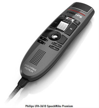 Philips LFH3610 SpeechMike Premium Dictation Microphone With Barcode Scanner and Slide Swtich