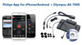 Philips Dictation App for iPhone and Android with Olympus AS-7000 Digital Transcription Kit