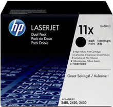 HP LaserJet 11XD Dual Pack Black Toner Cartridge