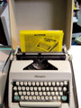 Vintage 1960s Olympia Deluxe SM7/SM8 Portable Manual Typewriter with Case
