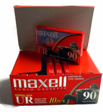 Maxell UR 90-Minute Audio Cassette Tape Normal Bias - Pack of 10