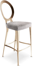 Miss Uncovered Backrest Stool
