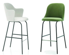 Aleta Stool with High Back