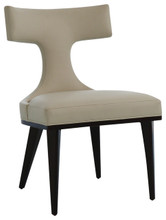 T BACK DINING CHAIR-IVORY LEATHER