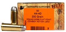 HSM 44-40 Winchester 200gr  RNFP-H Ammo - 50 Rounds