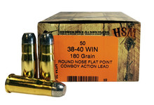 HSM 38-40 Winchester 180gr RNFP-H Ammo - 50 Rounds