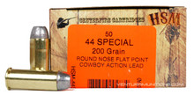 HSM 44 Special 200gr RNFP-H Ammo - 50 Rounds