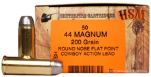 HSM 44 Magnum 200gr RNFP-H Cowboy Action Lead Ammo - 50 Rounds