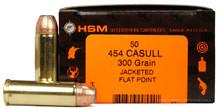 HSM 454 Casull 300gr JFP Ammo - 50 Rounds