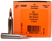 HSM 17 Remington 20gr V-MAX ™ Ammo - 50 Rounds