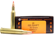 HSM 220 Swift 50gr V-MAX™ Ammo - 20 Rounds
