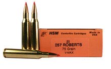 HSM 257 Roberts  75gr V-MAX™ Ammo - 20 Rounds