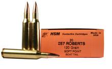 HSM 257 Roberts 120gr BTSP Ammo - 20 Rounds