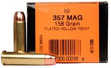 HSM 357 Magnum 158gr  Copper Bonded HP Ammo - 50 Rounds