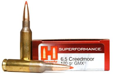Hornady 6.5 Creedmoor 120gr GMX Superformance Ammo - 20 Rounds