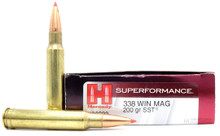Hornady 338 Winchester Magnum 200gr SST Superformance Ammo - 20 Rounds