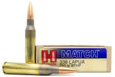 Hornady 338 Lapua 250gr BTHP Match Ammo - 20 Rounds