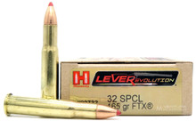Hornady 32 Winchester Special 165gr FTX® Ammo - 20 Rounds