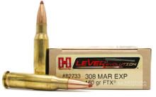 Hornady 308 Marlin Express 160gr FTX® Ammo - 20 Rounds