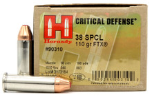Hornady 38 Special 110gr FTX® Critical Defense Ammo - 25 Rounds