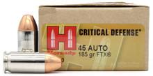 Hornady 45 ACP 185gr FTX® Critical Defense Ammo - 20 Rounds