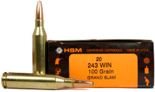 HSM 243 Winchester 100gr Speer Grand Slam SP Ammo - 20 Rounds