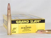 HSM 30-06 Springfield 165gr Ammo - 20 Rounds